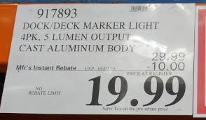Costco Outdoor Solar Lights by Manor House Solar Led Marker Lights 4 Pack Costco Weekender