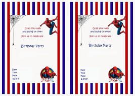 design cheap free personalized spiderman birthday invitations