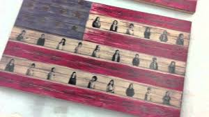 Pallet American Flag American Flag Art Print On Birch Wood Youtube
