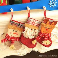 bag ornaments scok 20 13cm snowman elk santa claus