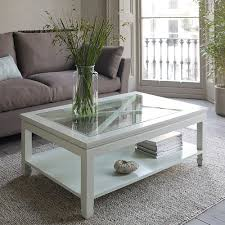 Wood Glass Coffee Table Furniture Rectangle Coffee Table With Glass Top Glass Rustic