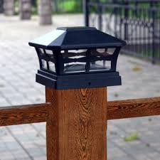 solar fence post lights 6x6 wayfair