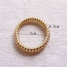 ponytail holder bracelet 50pcs lot fashion glittering gold silver slim thin telephone wire