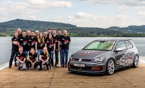 white volkswagen gti 2016 vw unveils apprentice built gti and golf r variant for worthersee