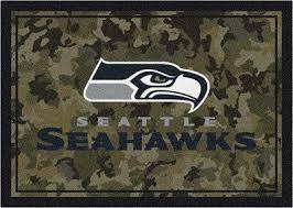 nfl camo 3085 seattle seahawks area rug by milliken carpetmart com