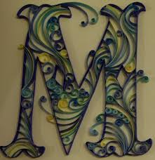 Yulia Brodskaya A Can Of Crafty Curiosities Paper Quilled Monogram Letter M
