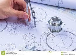 design engineer mechanical design engineer in drawing stock photo image 58088012