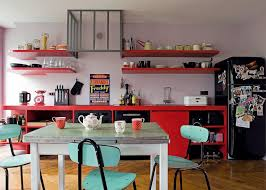 cuisine coloree crédence de cuisine peinte pour une déco pepsy