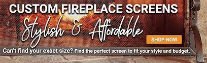 Single Fireplace Screen by Fireplace Screens Single Panel Fire Screens Fireplace Screens