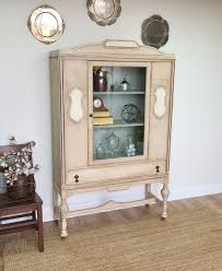 vintage china cabinet distressed furniture dining cabinet