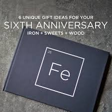 6 unique 6th year anniversary gift ideas iron and wood theme