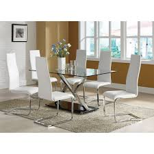coaster furniture 100515wht modern dining faux leather dining coaster furniture 100515wht modern dining faux leather dining chair in white with chrome legs set