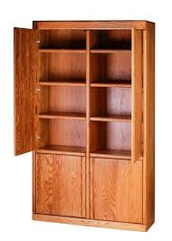 Wood Bookcase With Doors Forest Designs Bullnose Bookcase W Wood Doors 48w X 84h X