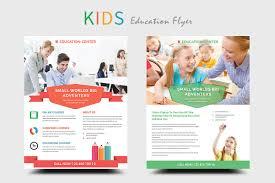 kids education flyers flyer templates creative market