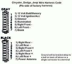 dodge car radio stereo audio wiring diagram autoradio connector wire