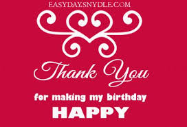 a thank you message for birthday wishes thank you notes