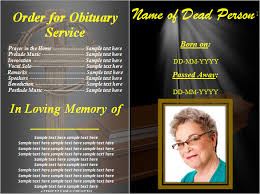 sle of funeral programs 50th birthday program template templates resume exles