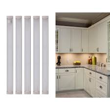 kitchen cabinet led lighting black decker 9 in led warm white 2700k dimmable 5 bar cabinet lights kit with free on tool free in install leduc9 5wk the