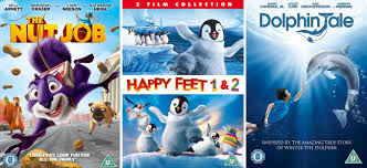 win the nut dolphin tale and happy 1 and 2 on dvd