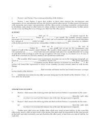 Child Support Letter Agreement Canada Separation Agreement Common Law Or Same Couple