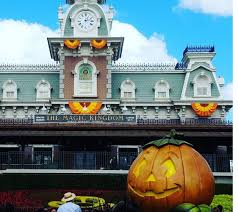 halloween decorations are starting to go up at the magic kingdom