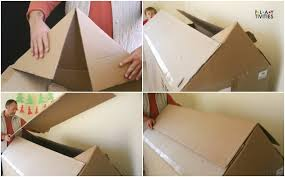 how to build the most simple cardboard house playtivities
