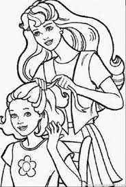 barbie doll coloring pages kids coloring