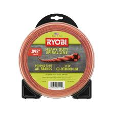 Map Gas Home Depot Ryobi 0 095 In X 110 Ft Heavy Duty Spiral Gas Trimmer Line