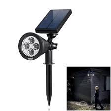 diy solar flood light solar led spotlight with adjustable angle head