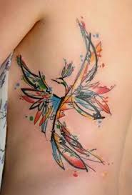 best watercolor tattoo phoenix watercolor tattoos jpg 500 738