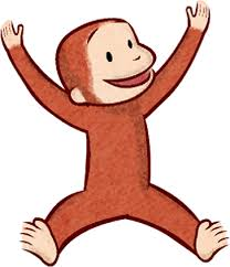 classic clipart curious george pencil color classic