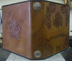 leather guest book custom leather books handcrafted leather books and