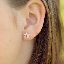 earrings girl beadifulbaby flower girl keepsakes 14k yellow