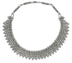 collar necklace images Sergio gutierrez liquid metal by sg silver mesh collar necklace n17 jpg