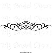 wedding designs bridal clipart of a black and white swirl wedding design element