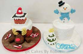 Christmas Cake Decorations Robin by Acup4mycake The Sweetest Place On The Internet
