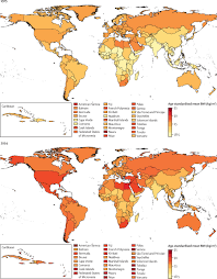 Maldives World Map Trends In Body Mass Index In 200 Countries From 1975 To 2014