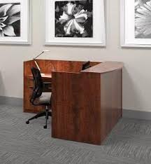L Shaped Reception Desk Offices To Go Dark Cherry Laminate L Shaped Reception Desk With