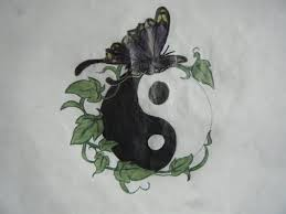 butterfly and yin yang design