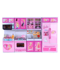 Barbie Dream Furniture Collection by Param Barbie Dream House Kitchen Set Kids Luxury Battery Operated