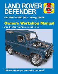 haynes service and repair manual defender puma 2007 2016