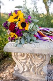 Heb Flowers - fall colored wedding at terradorna in texas