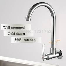 wall mount faucet kitchen buy free shipping moden single cold water wall mounted faucet