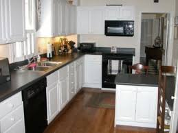 Pictures Of Kitchens With White Cabinets And Black Countertops Popular White Counters With Black Countertops My Home Design Journey