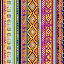 vector striped seamless background with a mexican ornament royalty