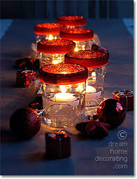 Floating Candle Centerpiece Ideas Christmas Table Settings And Christmas Table Decoration Ideas From