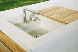 outdoor kitchen sink plumbing the concrete outdoor kitchen modular kitchens from dade design