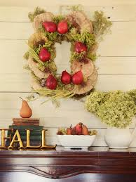How To Make A Spring Wreath by How To Make A Rectangular Rustic Fall Wreath Hgtv