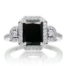 Black Diamond Wedding Ring by Square Cut Black And White Diamond Engagement Ring And Wedding