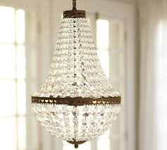 French Wire Chandelier Mia Faceted Crystal Chandelier Pottery Barn